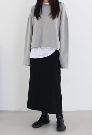 Maxi slit skirt (2colors)