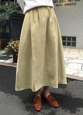 Soft long flared skirt