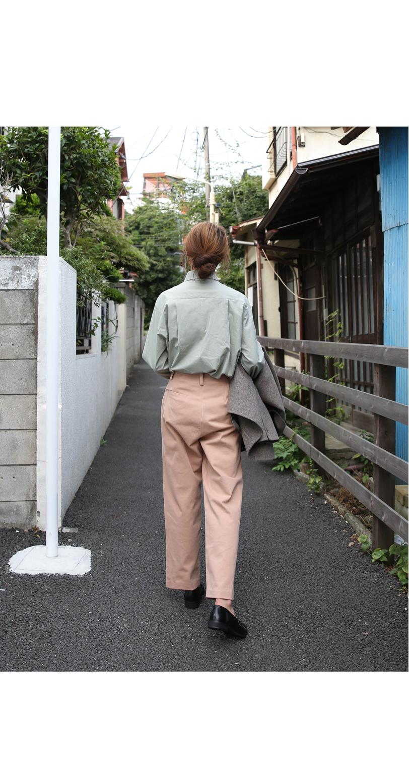 Fuzzy pinch cotton pants