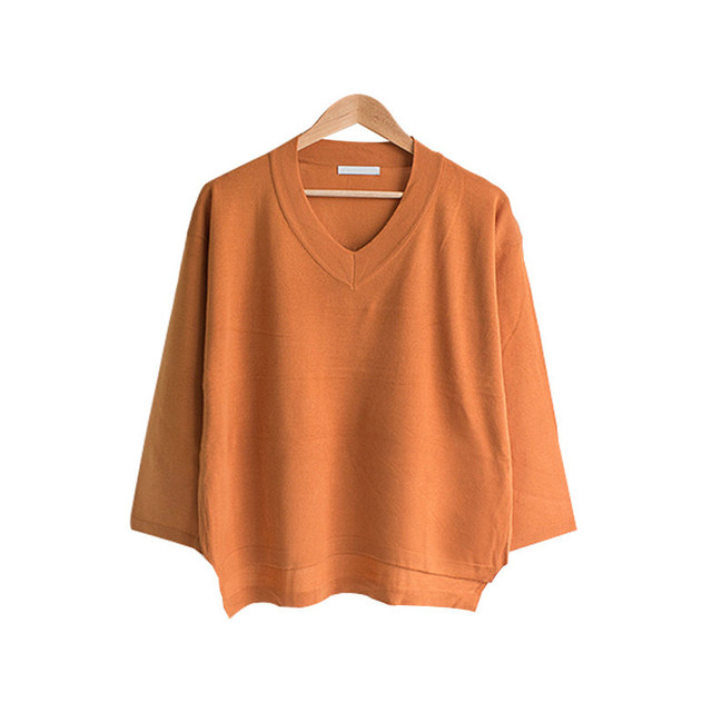 Uneven Daily Uneven V Neck Knit