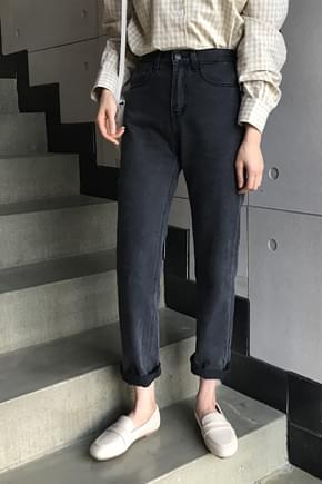 Blackvin half-denim pants
