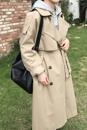 Plum Rouge Pit Trench Coat