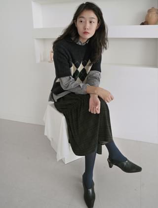 self tie ribbon skirt (2colors)
