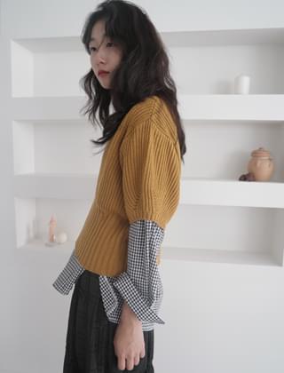 volume shape kitsch knit (5colors)