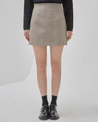 channel check mini skirt (s, m)