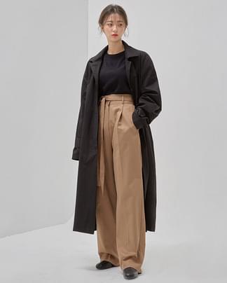 haze single trench coat