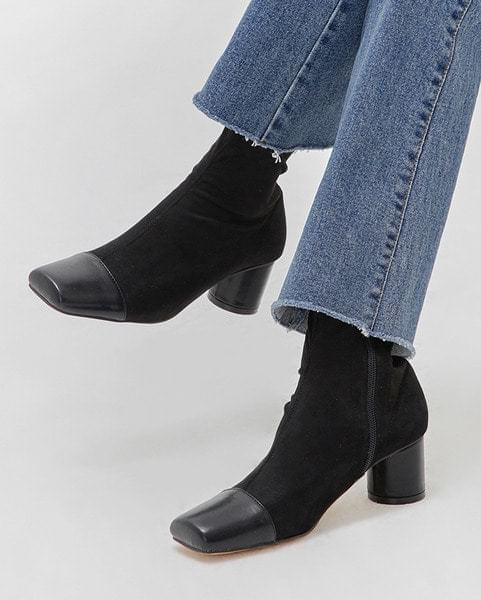 enamel front ankle boots (225-250)