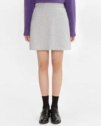 smooth wool mini skirt (s, m)
