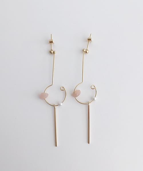 pink drop earring