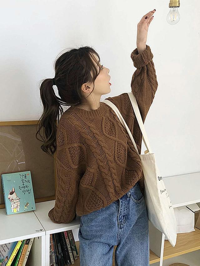 Round knit twill pattern knit