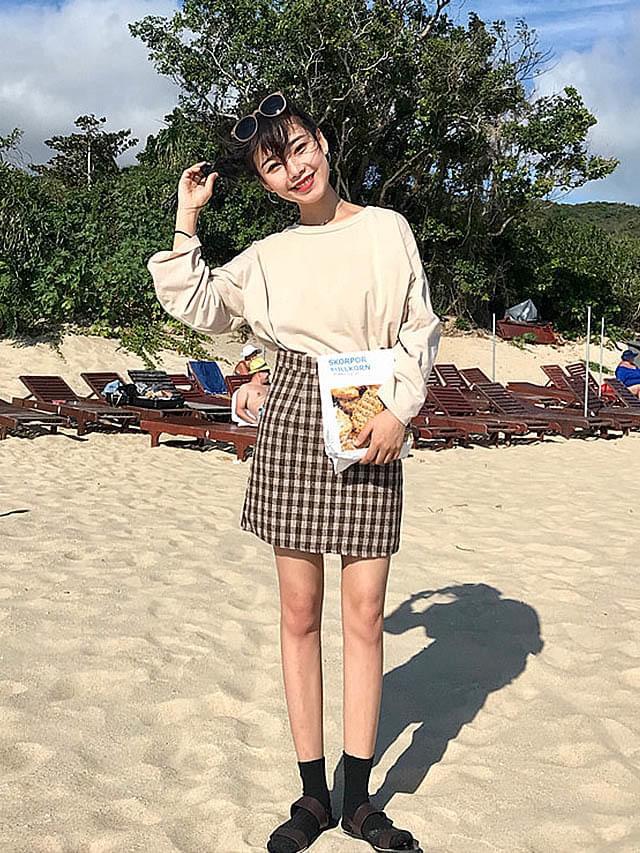 Gingham Check Adult Mini Skirt