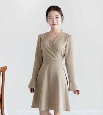 Cream Flare Dress