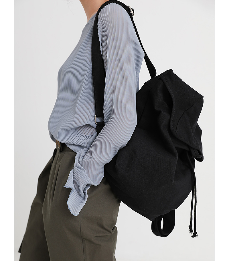daily canvas backpack (2colors)