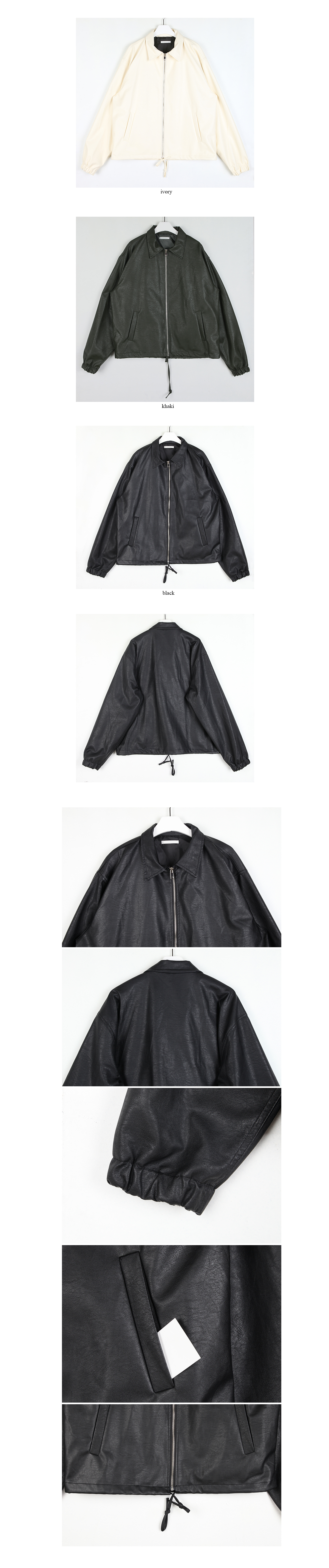 fall leather jacket (3colors)