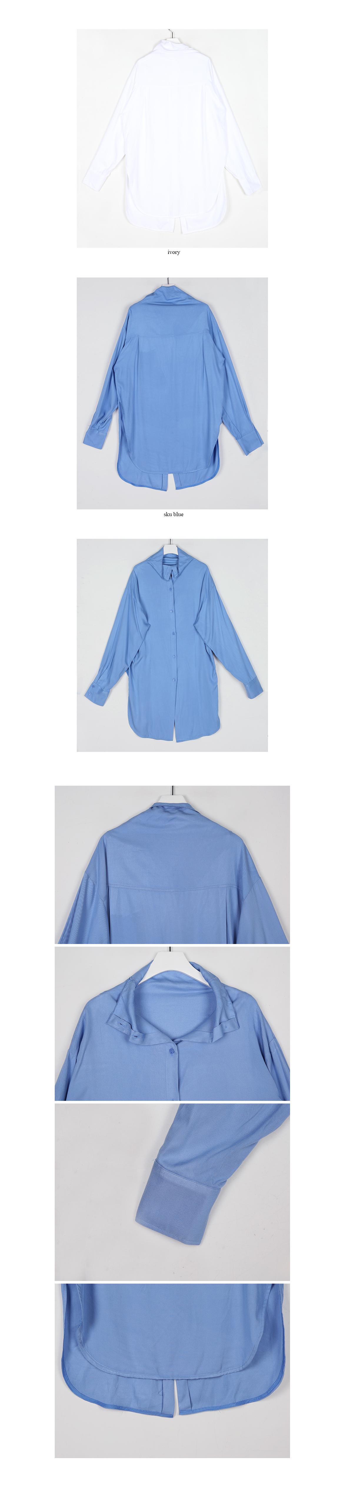 turtle neck button long blouse (2colors)