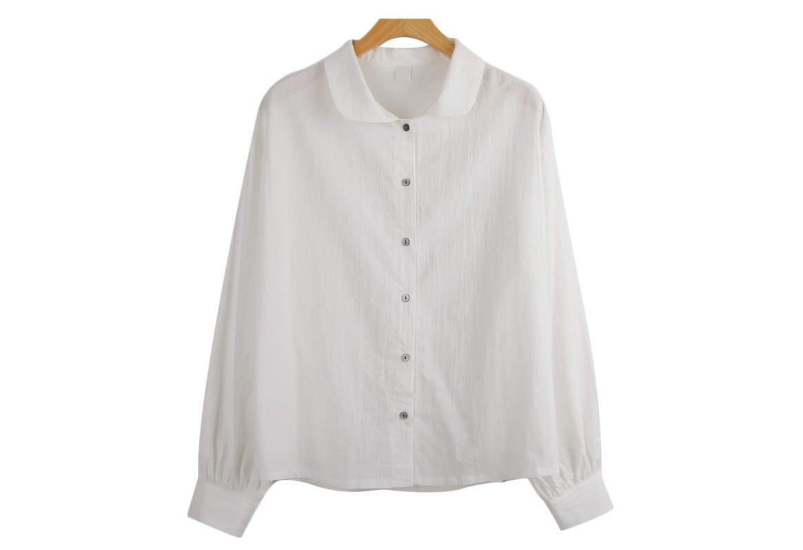A pretty neckline and a neat blouse :)