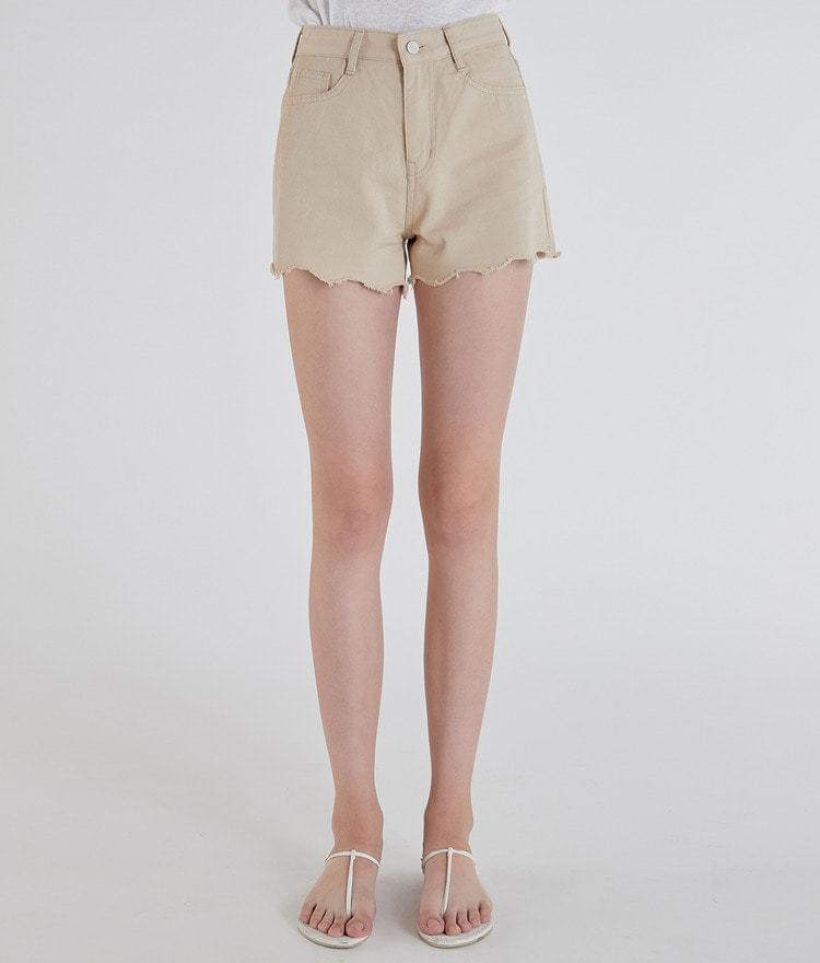 Simple Cutting Short Cotton Pants