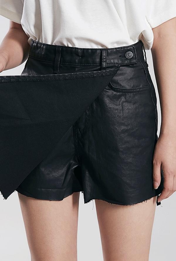 Harpy Leather Skirt Pants