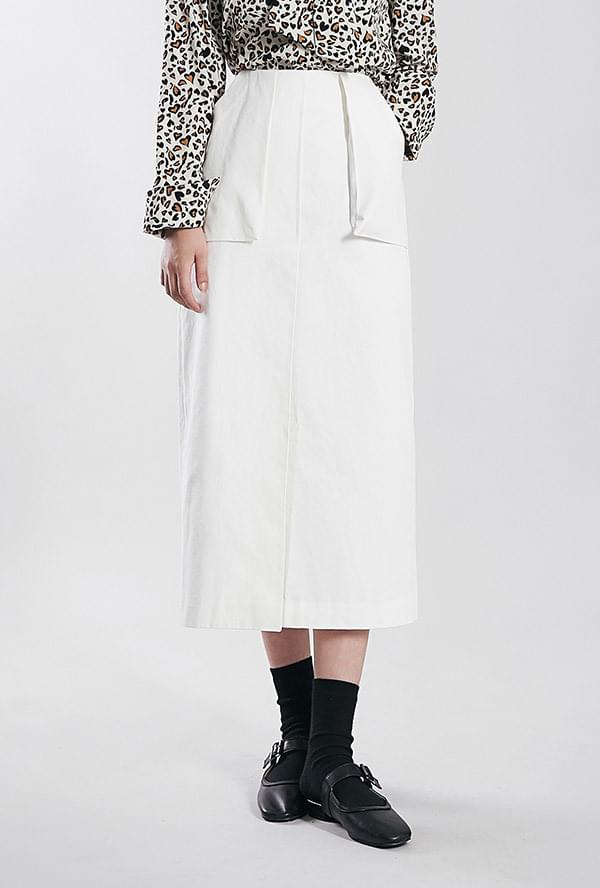 And Pocket Cotton Skirt
