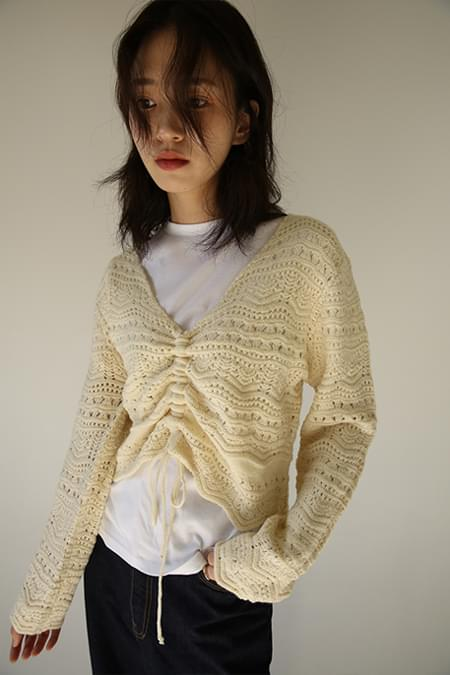 lovely string knit (2colors)