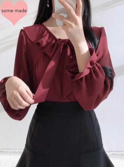 Same day delivery, self-made ♥ Lovely sera ribbon blouse