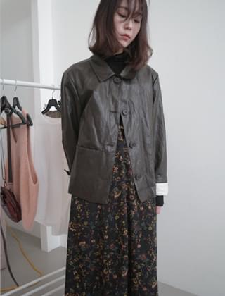 vintage mood coating jacket (3colors)