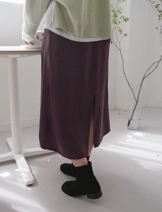 graceful silky skirt (4colors)