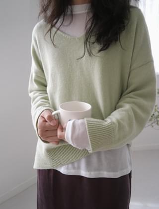 warm soul V-neck knit (5colors)
