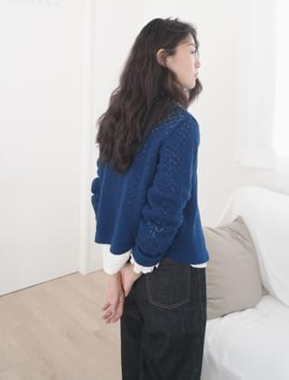 french vintage wool cardigan (4colors)