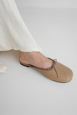 Soft touch ribbon mule slippers
