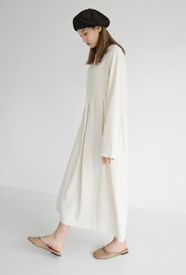 Simple cotton long dress