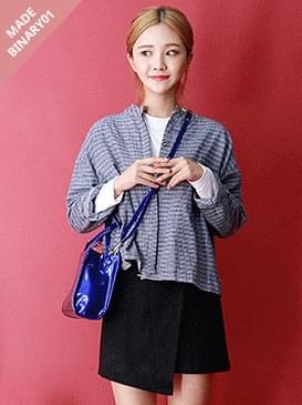 韓國空運 - Suede A line macaroon wrap skirt 裙子