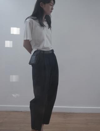 side snap pot pants (dark navy)