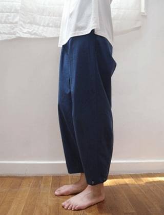 side snap pot pants (blue)