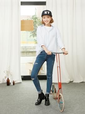 韓國空運 - Rosie blue pt 牛仔褲