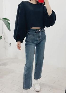 Volume Puff Crop T-shirt