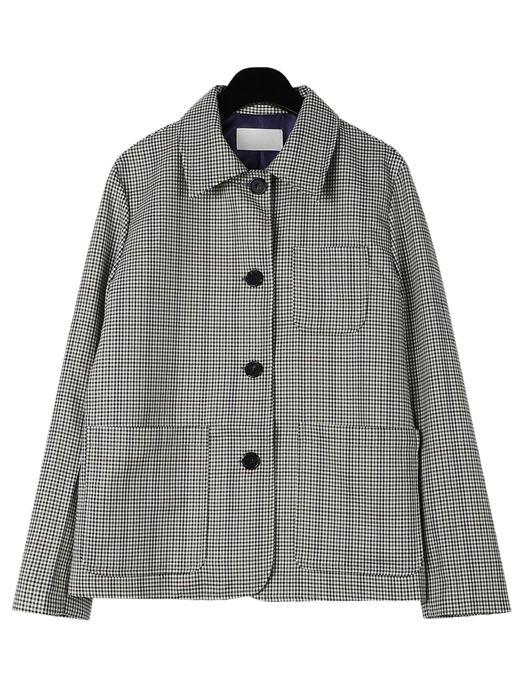 Subdued check short jacket
