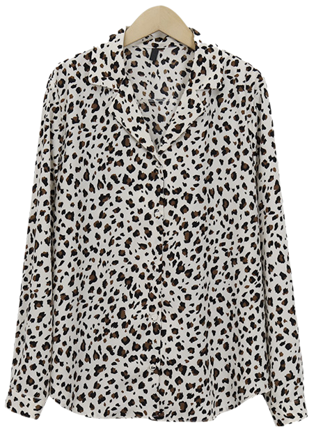 standard leopard shirts blouse_K (size : free)