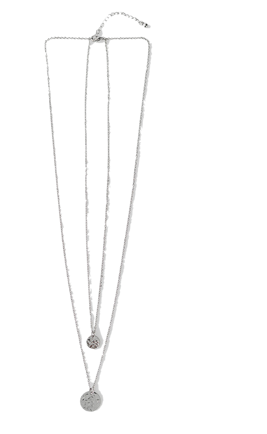 sensual mood silver necklace