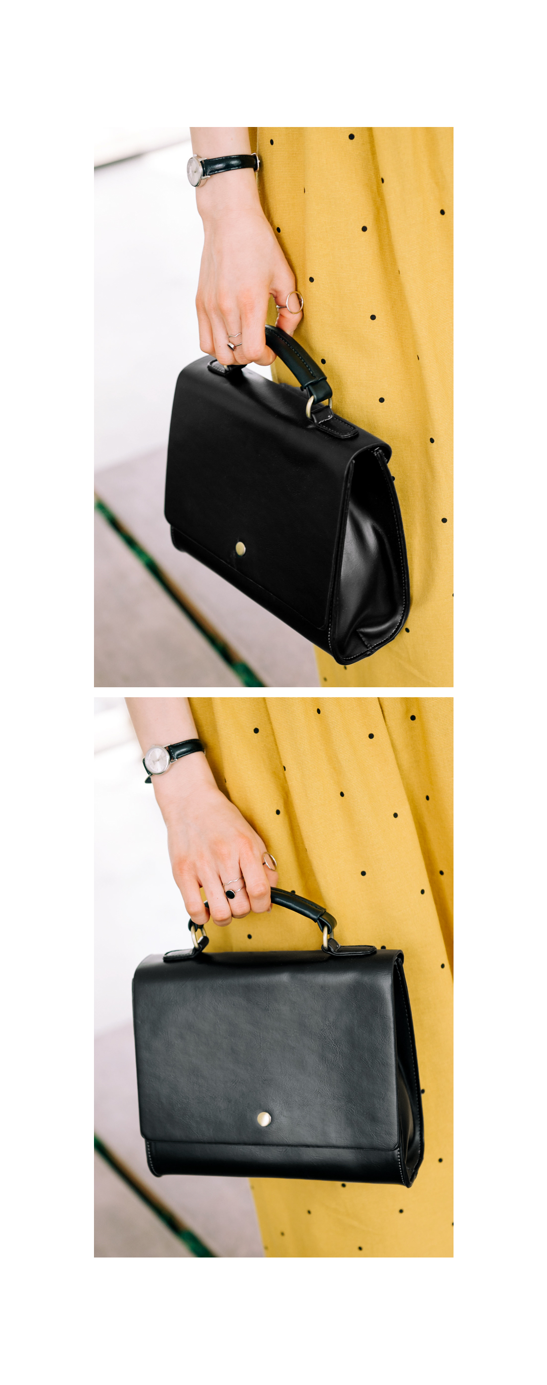 VINTAGE ONE BUTTON TOTE BAG