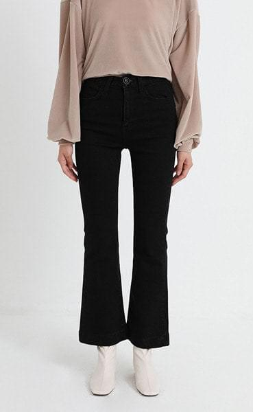 standard black boots-cut denim pants