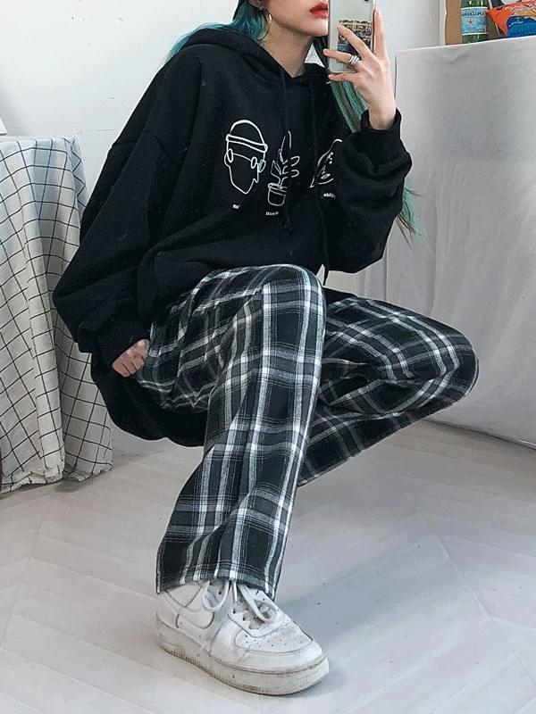 Shomi check long pants