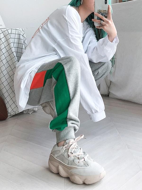 Crayon color jogger pants