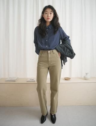 semi high straigh pants