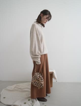 easy wide banding pants (4colors)