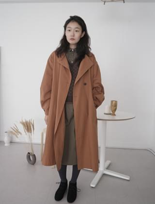 non collar deep color trench (2colors)