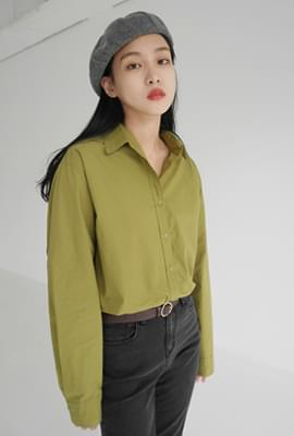 Crispy texture cotton shirt