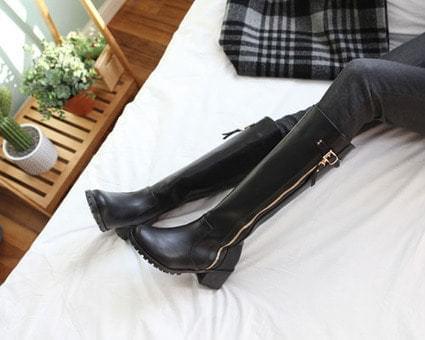 Kylla Buckle Long Boots