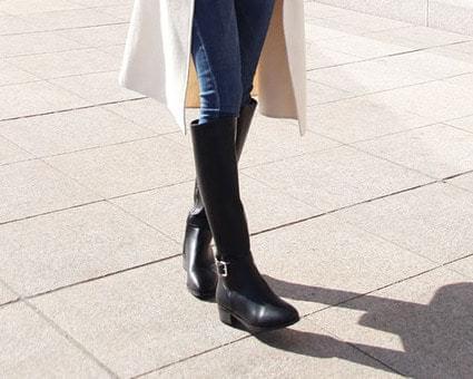 Nancy Buckle Long Boots