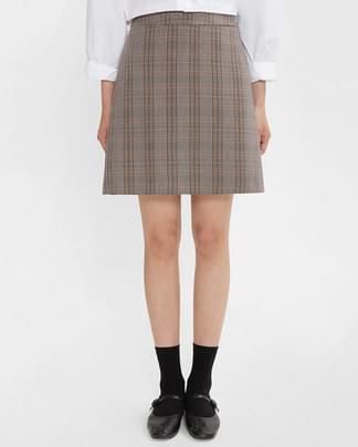 belonging check mini skirt (s, m)